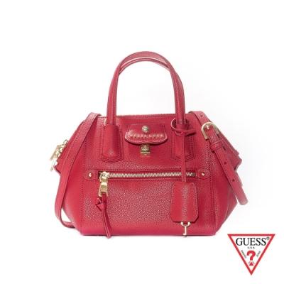 GUESS-女包-簡約都會皮革手提肩背包-紅