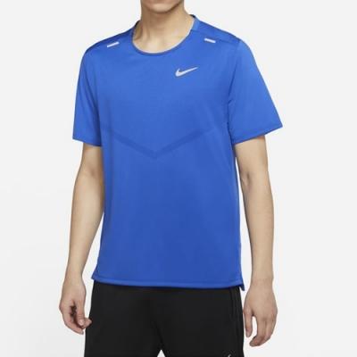 Nike DF RISE 365 SS 男短袖上衣 藍-CZ9185481