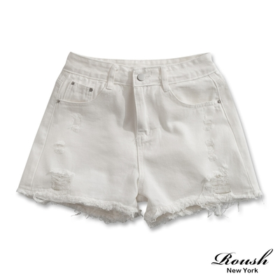 [時時樂] ROUSH 女生美式丹寧短褲/裙.男生翻玩LOGO短棉褲[任選2件$700](多款任選)