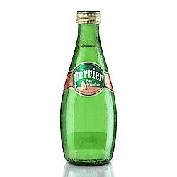 法國Perrier 氣泡天然礦泉水-葡萄柚口味 玻璃瓶(330mlx24入)