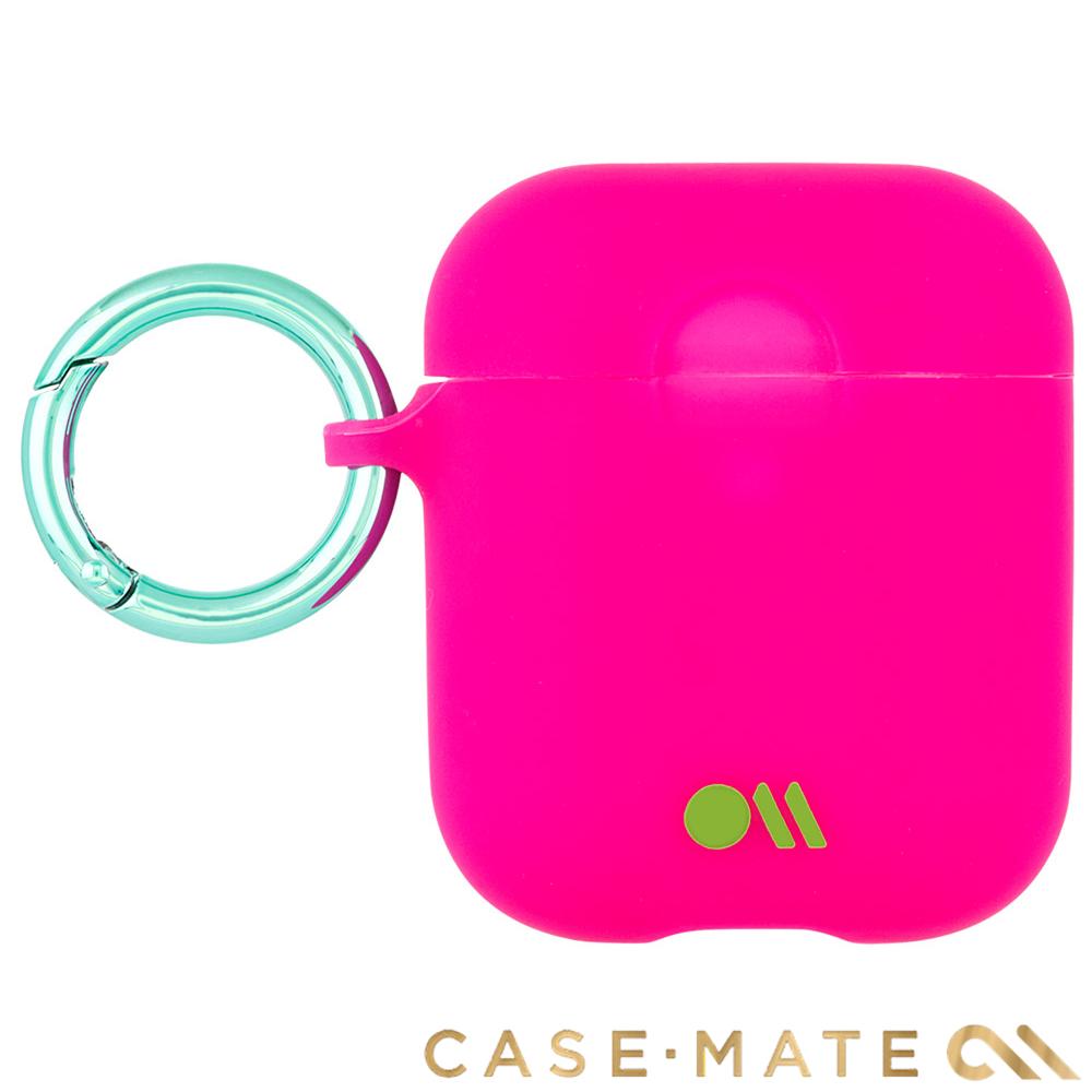 美國 CASE●MATE AirPods 炫彩保護套 - 紫紅色 贈掛環及磁性防丟繩