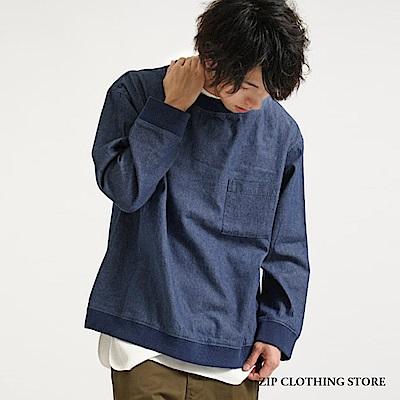 長袖寬版套頭衫(3色) ZIP日本男裝 @ Y!購物
