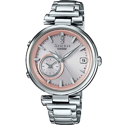 SHEEN TIME RING 優雅都會藍牙錶(SHB-100D-4A)粉/35mm