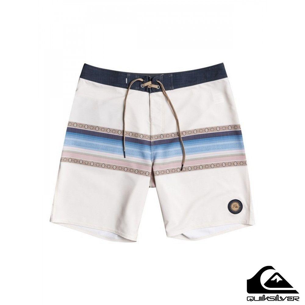 【QUIKSILVER】SURFSILK SUN FADED 19 衝浪褲 白色