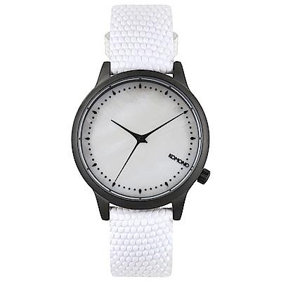 KOMONO Estelle Monte Carlo 腕錶-白色蜥蜴/36mm