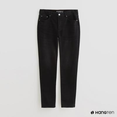 Hang Ten - 男裝 - 簡約純色休閒長褲 - 黑