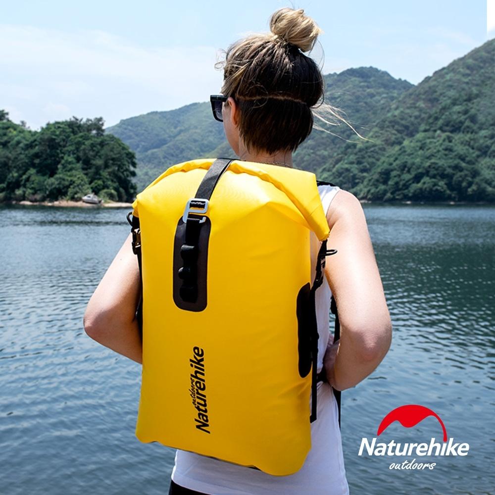 Naturehike 28L便利調節TPU乾濕分離超輕防水後背袋 收納袋 背包 黃色