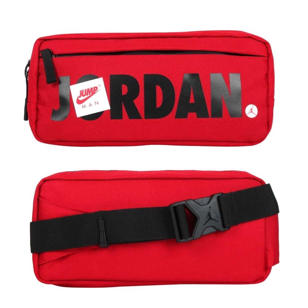 NIKE JORDAN 中型腰包-飛人喬丹 臀包 側背包 斜背包 慢跑 JD2113015AD-002 紅黑白