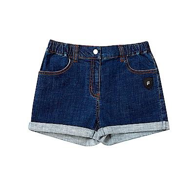 FILA KIDS 童牛仔短褲-藍 5SHT-4466-BU