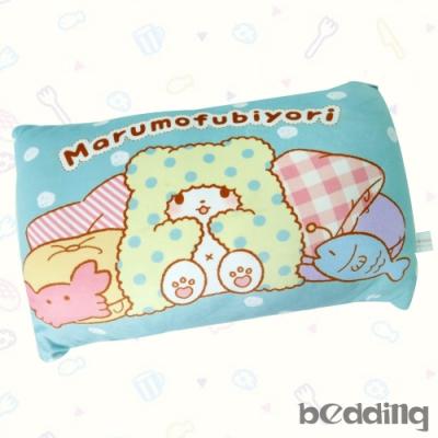 BEDDING-三麗鷗正版授權-毛毯熊莫普長方形抱枕-藍色