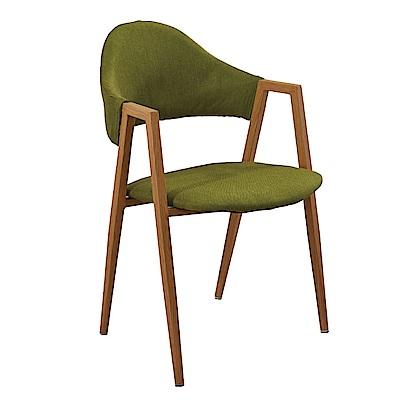 文創集 查爾斯時尚亞麻布造型餐椅組合(二入組+二色可選)-52x56x80cm免組