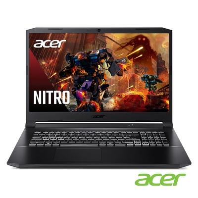 Acer AN517-54-75TM 17吋筆電(i7-11800H/RTX3050Ti/16G/512G SSD/黑)
