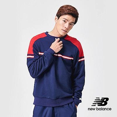 New Balance 長袖T恤_AMT91508PGM_男性_深藍