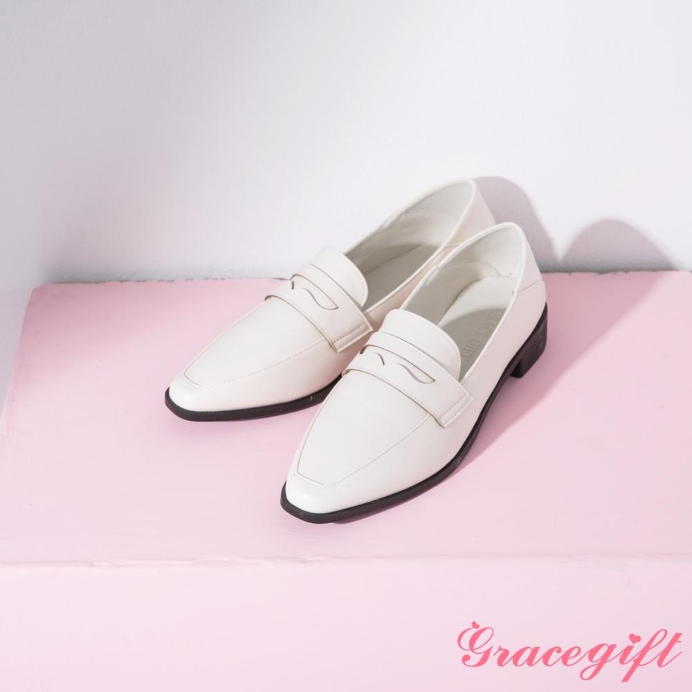 Grace gift-微尖頭便仕2way樂福鞋 米白