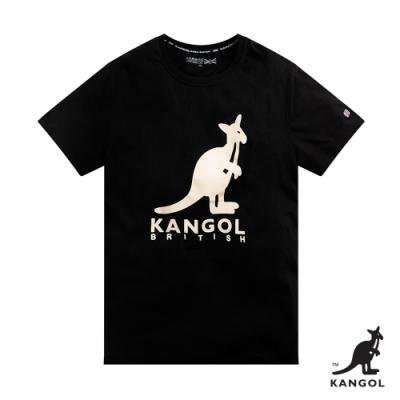 【KANGOL】經典LOGO圓領短袖T恤-男-黑