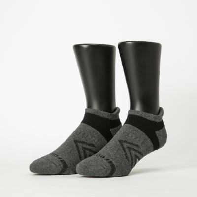 Footer除臭襪−雙側翼護足輕壓力船短襪-六雙入(深灰*2+黃*2+紫*2)