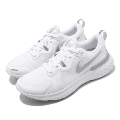 Nike 慢跑鞋 React Miler 運動 女鞋 輕量 透氣 舒適 避震 路跑 健身 白 灰 CW1778100
