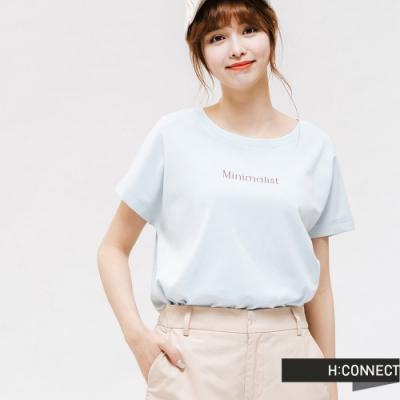 H:CONNECT 韓國品牌 女裝 -活力彩色圖印T-Shirt-藍