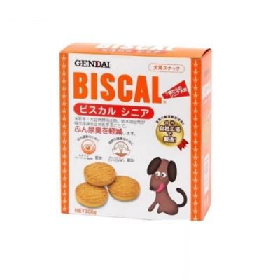 日本GENDAI現代-BISCAL必吃客機能消臭餅乾-熟齡犬專用 300g (OD0200A) 兩入組