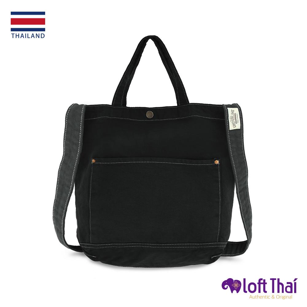 Loft THAI | 泰.兩用水洗帆布單肩包 | Black @ Y!購物