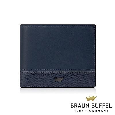 BRAUN BUFFEL - 邦尼系列8卡皮夾 - 深海藍