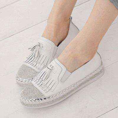Camille's 韓國空運-鑽石厚底懶人小白鞋-3款(偏小)