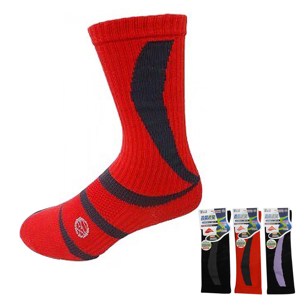 本之豐 萊卡精梳棉繃帶加壓抗菌消臭足弓加強性半統運動襪-6雙