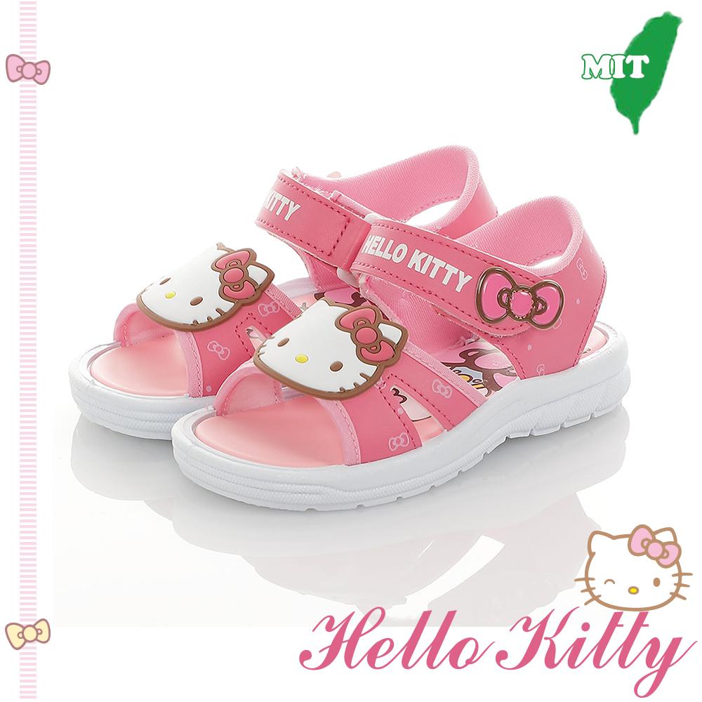 HelloKitty童鞋 輕量減壓休閒涼鞋-桃