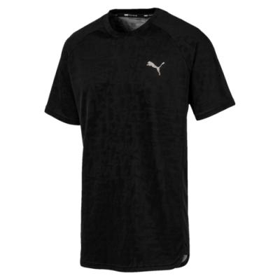 PUMA-男性訓練系列Power Vent短袖T恤-黑色-歐規