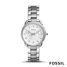 FOSSIL TAILOR 銀色鑲鑽多功能不鏽鋼女錶