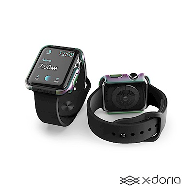 x-doria Apple Watch 44mm 保護殼 DEFENSE 刀鋒系列 繽紛虹