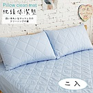 UP101 漾彩保潔墊枕套全包覆式2入-藍(EO-001)