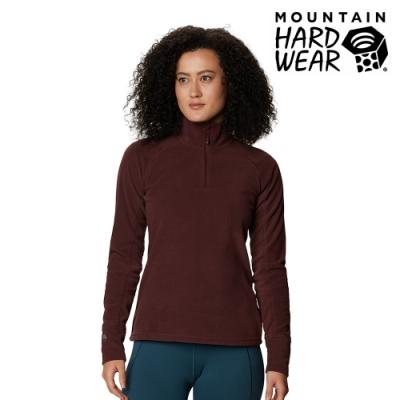 【美國 Mountain Hardwear】Microchill 2.0 Zip T-Shirt 保暖長袖排汗衣 女款 水洗葡萄 #1677371