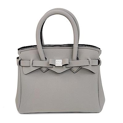SAVE MY BAG 義大利品牌 PETITE系列 灰裸色超輕量手提托特包