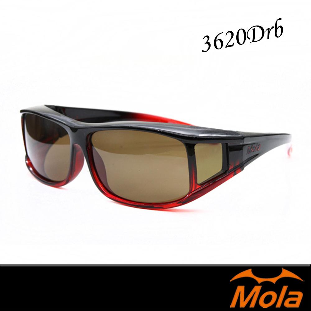 MOLA摩拉近視可戴外掛式偏光太陽眼鏡 套鏡 UV400 男女 時尚-3620Drb