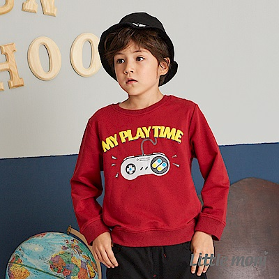 Little moni 遊戲機印圖上衣(2色可選)