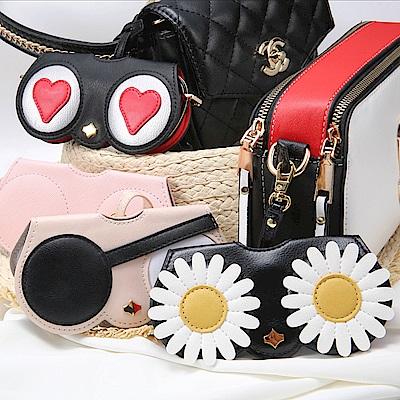[時時樂限定]首爾秀 時尚外掛墨鏡收納包/太陽眼鏡盒/光學眼鏡保護夾