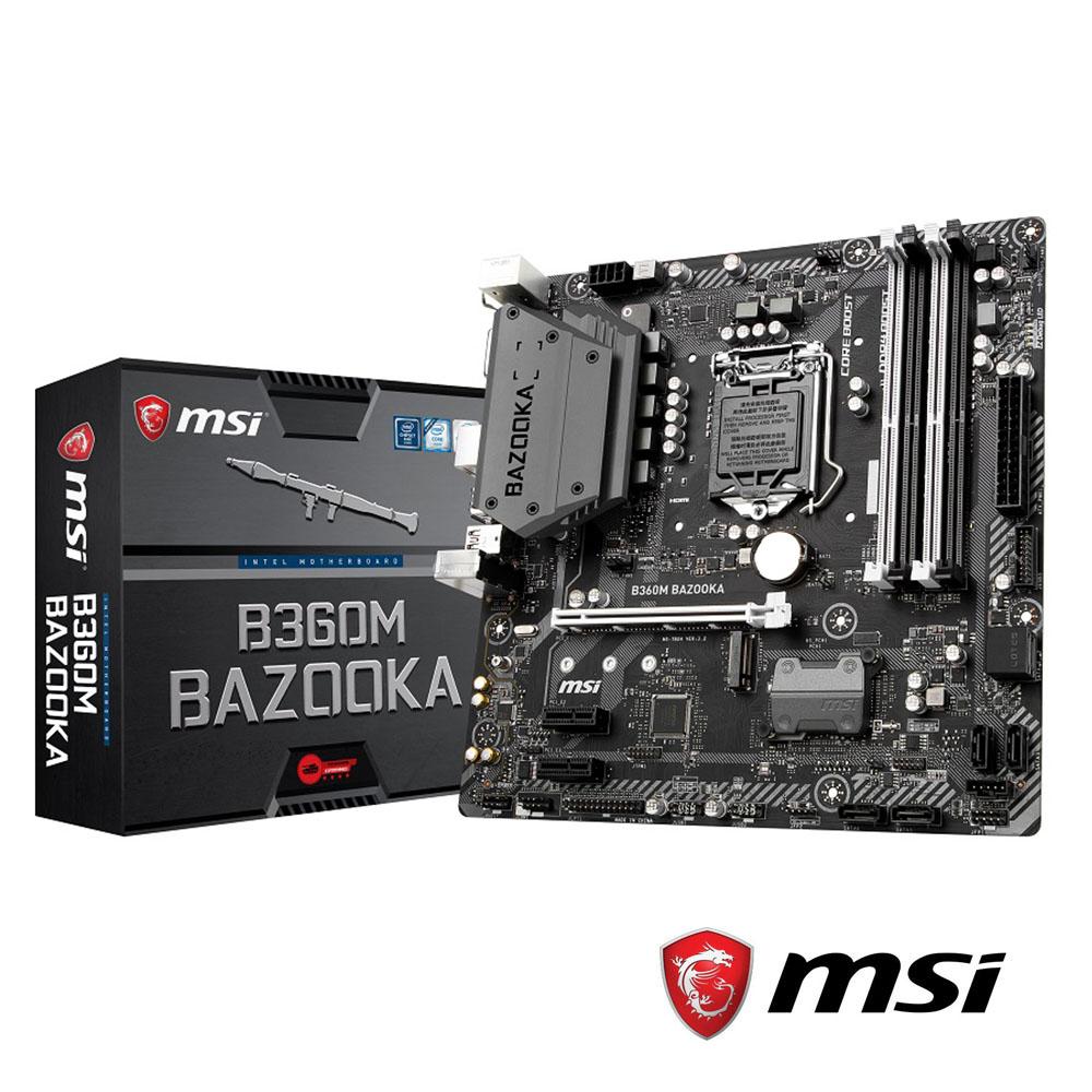 MSI微星 B360M BAZOOKA 主機板