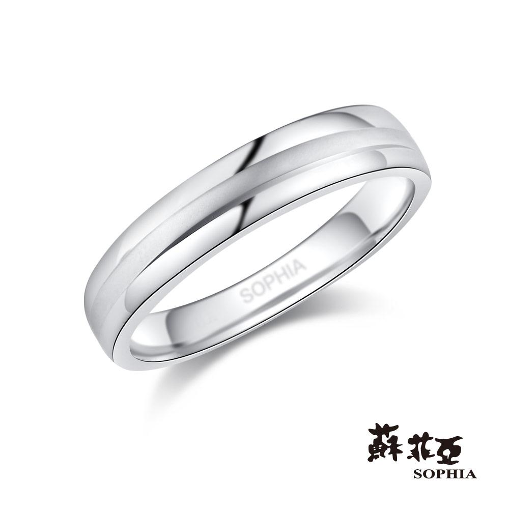 蘇菲亞SOPHIA 鉑金戒指-無盡的愛鉑金鑽石男戒
