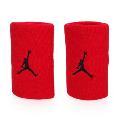 NIKE Jordan Jumpman單色腕帶 紅黑