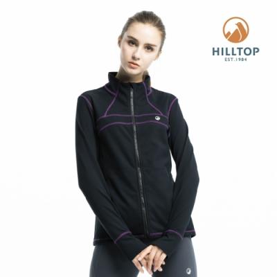 【hilltop山頂鳥】女款ZISOFIT保暖吸濕快乾刷毛外套H22FW0黑美人