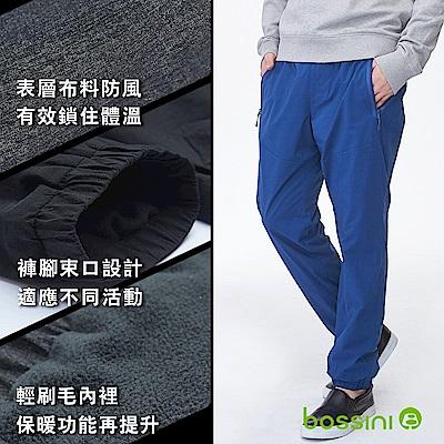 bossini男裝-彈性輕便保暖褲01海藍