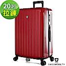 SWISSMOBILITY瑞動 經典雙線20吋PC耐撞TSA海關鎖行李箱/旅行箱 (紅色)