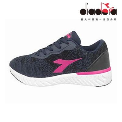 Diadora 女輕量慢跑鞋 寬楦 深藍 DA9AWR7686