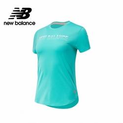【New Balance】Dry短袖T_女性_綠色_AWT11221SUJ