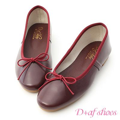 D+AF 氣質好感.經典平底芭蕾娃娃鞋*紅