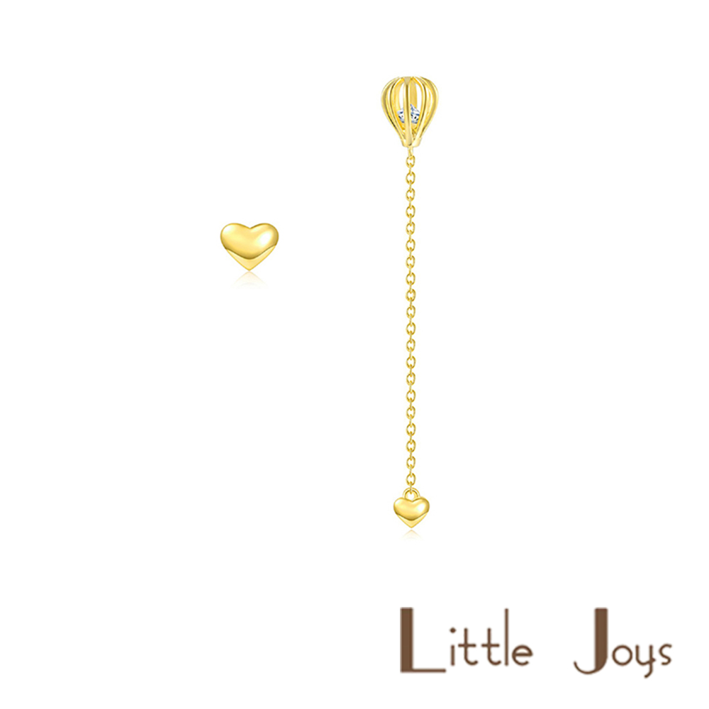 Little Joys 原創設計品牌 鏤空熱氣球金色長款耳釘 925銀鍍金