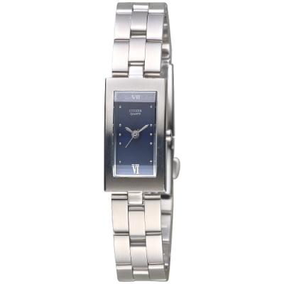 CITIZEN 俐落身手時尚女錶-寶藍-EH0270-50L-15*28mm