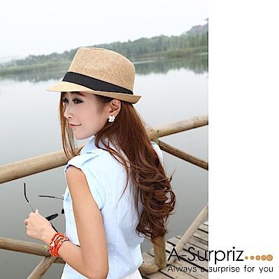 A-Surpriz 簡約個性風尚伸士帽(淺咖)
