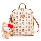 Hello Kitty聯名- 後背包(可變換肩背) SPOIL / 熊愛你系列-咖色